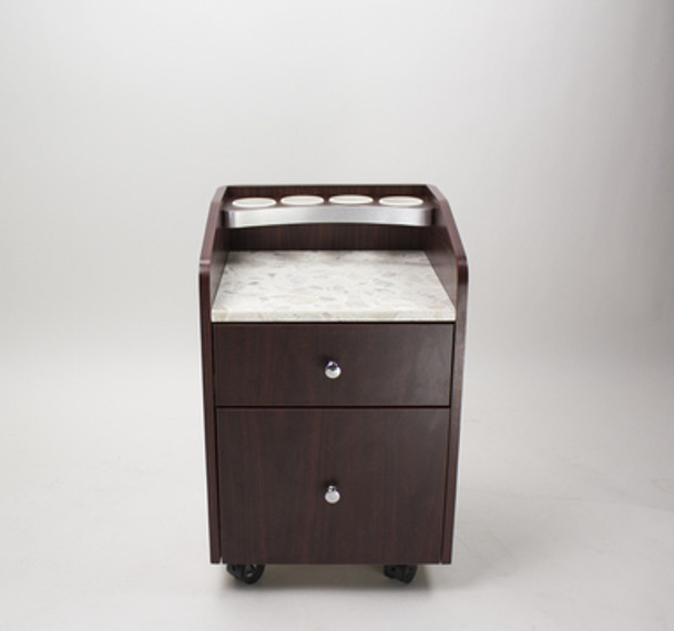 Hunter Avon I Pedicure Trolley with Marble Top