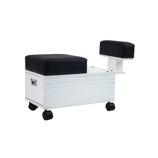 Hunter Alera Pedicure Cart With Footrest (White)