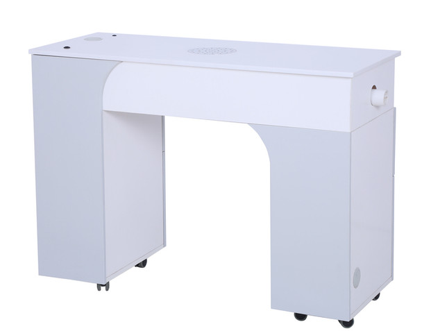 Hunter Milan Manicure Table with Vent Pipe (ash grey)