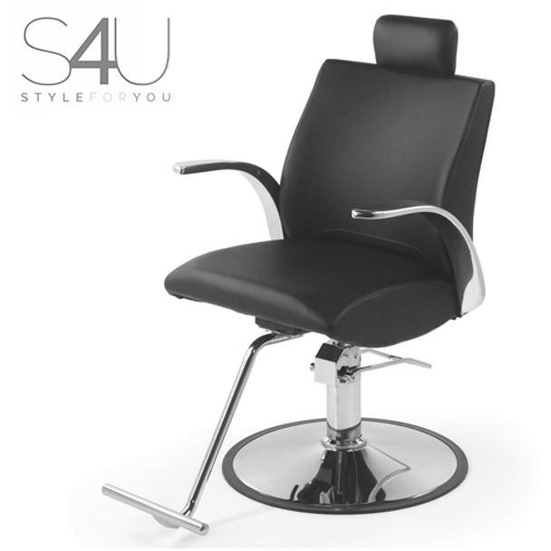 Belvedere  S4U Lioness Swivel Reclining Chair - Black
