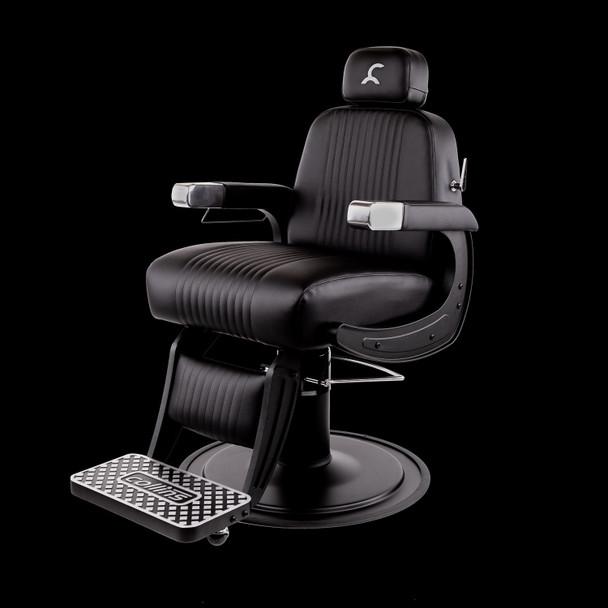 Collins Blacked-Out Cobalt Omega Barber Chair
