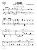Sheet music for Prokofiev's Cinderella 6 Pieces for Piano Op.102