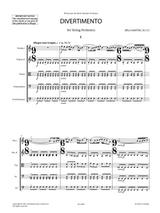 Bartok Divertimento for Strings SZ.113 full score
