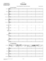 Ravel - Tzigane for Violin and Orchestra Score and Parts