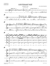 Sheet music for Prokofiev - Lieutenant Kijé Symphonic Suite Op.60 , Full score and Orchestral parts.