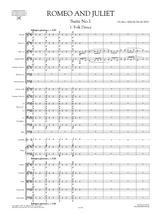 "Sheet Music: Score and Parts for Sergei Prokofiev ""Romeo and Juliet"" Orchestral Suite No.1 Op.64b"