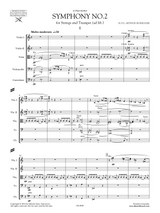 Sheet music for Honegger: Symphony No.2 for Strings and Trumpet ad lib, orchestral parts and score.