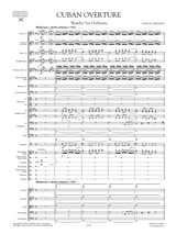 Gershwin Cuban Overture, Rumba for Orchestra. Score and Orchestral parts
