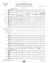 Bartok: Rhapsody No.2 for Violin and Orchestra, Full Score and Set of parts.