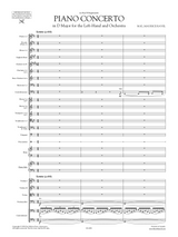 Score & Parts for Ravel's Left Hand Concerto, sheet music