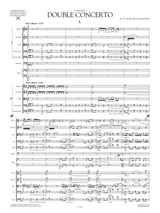 Sheet music for Martinu: Double Concerto for 2 String Orchestras, Piano and Timpani