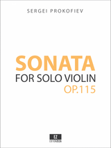 Prokofiev Sonata for Solo Violin Op.115 sheet music