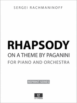 Rachmaninoff Rhapsody on a theme of Paganini for Piano and Orchestra Op.43 Orchestral Parts sheet music