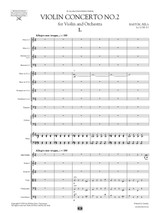 Sheet Music for Bartok Violin Concerto No.2, Score and Parts