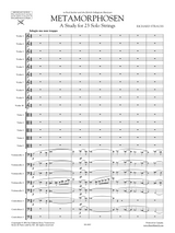 Strauss Metamorphosen sheet music - Score and Parts