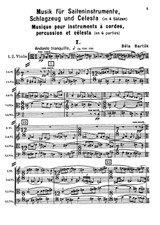 Bela Bartok: Music for Strings, Percussion and Celesta Sz.106 - sheet music, partition, noten, spartiti