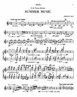 Bax - Summer Music - full score and set of parts