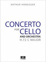 Honegger Cello Concerto, Score and Orchestral Parts