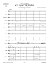 Honegger Concerto for Cello and Orchestra - Full Score, Set of Parts, sheet music
