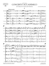 Concerto Accademico in D minor for Violin and Orchestra, Full Score and Orchestral Parts, sheet music