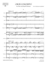 Martinu Oboe Concerto sheet music, score and orchestral parts