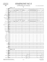 Prokofieff Symphony No.5 Op.100 Full Score , Set of Parts, sheet music