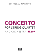 Martinu - Concerto for String Quartet and Orchestra , Score and Parts