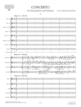 Martinu - Concerto for String Quartet and Orchestra H.207, Sheet Music, Full Score and Orchestral Parts