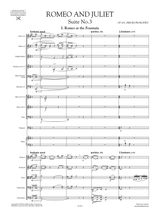 Prokofieff Romeo and Juliet Suite No.3 Op.101 Sheet Music, Full Score, Orchestral Parts