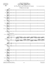 Poulenc Concerto in D minor for Two Pianos and Orchestra, sheet music, score, orchestral parts, set of parts
