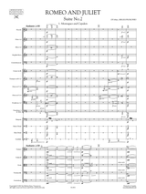 Prokofiev Montagues and Capulets from Romeo and Juliet Suite No.2 Op.64ter , Full Score and Orchestral Set of parts