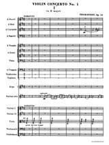 Prokofieff Violin Concerto No.1 , set of parts, full score