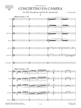 Ibert Concertino da Camera for Saxophone , full score and set of orchestral parts