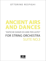 Respighi Ancient Airs and Dances Suite No.3 - Score and Parts