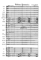 Respighi Sinfonia Drammatica - Full Score and Set of Parts