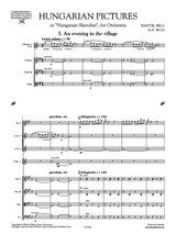 Bartok: Hungarian Sketches for Orchestra, Score and Parts