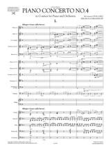 Rachmaninoff Piano Concerto No.4 Op.40 3rd version (1941) Score and Set of orchestral parts