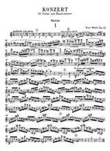 Weill Violin Concerto Op.12 Full Score and Set of Parts