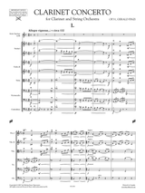 Finzi Clarinet Concerto Op.31, sheet music. Finzi Klarinettenkonzert noten.