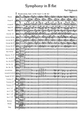 Hindemith Symphony in Bb for Band - score and parts, sheet music, spartiti, noten, partition