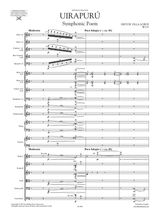 Sheet music for Villa-Lobos Uirapuru W133, full score and orchestral parts