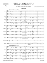Vaughan Williams Concerto for Tuba and Orchestra, Full Score and Orchestral Parts