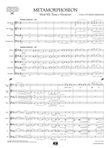 Respighi Metamorphoseon Score and Parts
