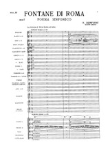 Respighi Fountains of Rome, sheet music