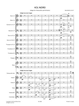 Bruch, M. - Kol Nidrei Op.47, Adagio for Violoncello and Orchestra , Sheet Music: Score and Orchestral Parts.