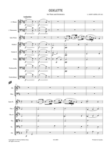 Saint-Saëns, C. - Odelette Op.162 for Flute and Orchestra