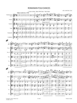 Bartok, B - Romanian Folk Dances, Sz.68 for Orchestra , Sheet Music: Full score and orchestral parts