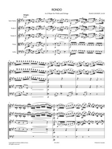 Schubert, F. - Rondo in A for Violin and Strings D.438 Sheet Music , Score and Parts.