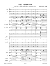 Strauss Jr. (II), J. - Rosen aus dem Süden (Roses from the South) Walzer Op.388, Full Score and Orchestral Parts