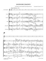 Glazunov, A. - Saxophone Concerto in E Flat Major Op.109 for Alto Saxophone and String Orchestra score